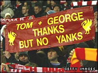 Liverpool fans show their feelings towards the owners