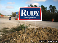 Rudy campaign poster in Florida