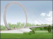 Architect's design for the new bridge
