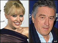 Kylie Minogue and Robert De Niro