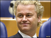 Far-right politician Geert Wilders. File photo