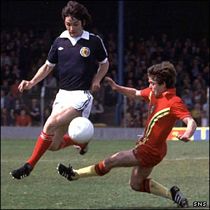 George Burley in action for Scotland