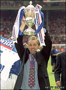 George Burley with play-off final trophy