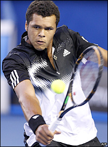 Tsonga showed tremendous touch at the net
