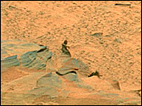 "blow-up of Nasa image of Mars ""mermaid"""