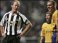 Alan Shearer (left) and Jake Buxton