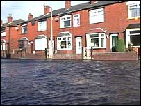 Flooding in Radcliffe