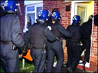 Police raid Slough property