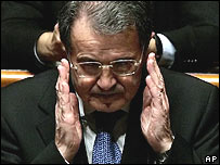 Romano Prodi in the Senate 24 January 2008