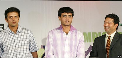 Rahul Dravid, Sourav Ganguly and Sachin Tendulkar will be among the stars who play in the IPL