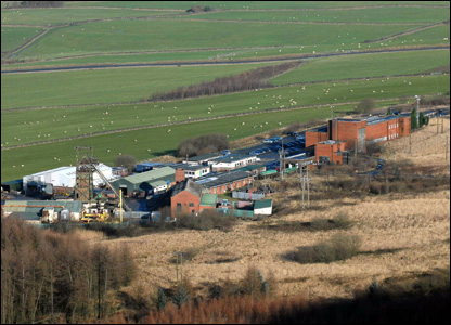 Aerial view of Tower Colliery at Hirwaun in Rhondda Cynon Taf which reopened in 1995