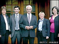 Jane Kennedy, Andy Burnham, Alistair Darling, Angela Eagle, Kitty Usher