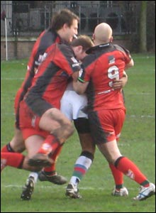 London Skolars show their strength in the tackle