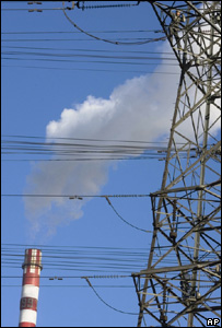 Power station and pylon (Image: AP)