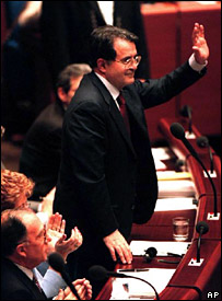 Romano Prodi is elected president of the European Commission in 1999