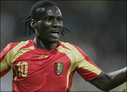Bangoura celebrates his goal