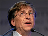 Bill Gates speak at the WEF