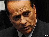 Forza Italia party leader Silvio Berlusconi