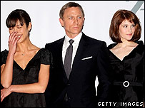 Daniel Craig with Olga Kurylenko and Gemma Arterton