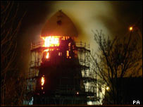 Sheerness windmill fire