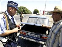 Досмотр автомобиля в Ингушетии