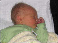 Zack at a few days old