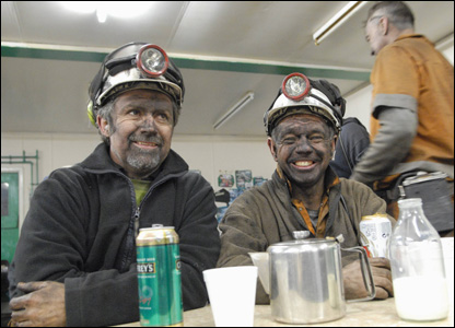 Miners in the canteen