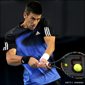 Djokovic shows intent with his backhand