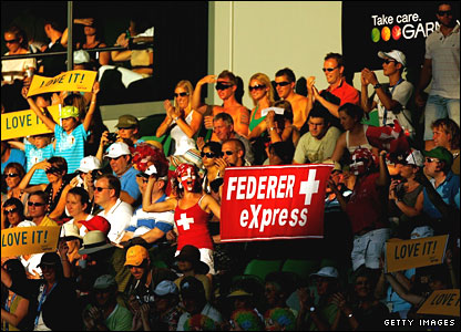 Swiss fans waves flags