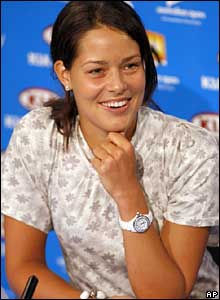 Ana Ivanovic faces the media