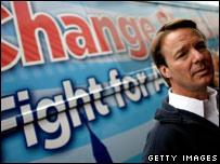 Former Senator John Edwards campaigns in South Carolina