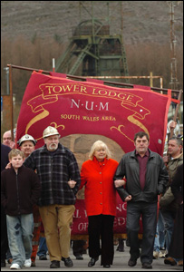 Miners marching