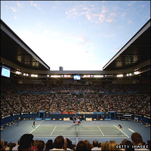 General view of the Rod Laver Arena