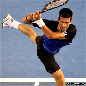 Djokovic unleashes another backhand