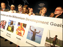 Global leaders issue a call to action on the Millennium Development Goals