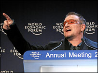Bono at the World Economic Forum