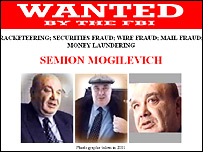 Photos of Semyon Mogilevich from the FBI website