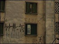 Writing on scrawled on walls