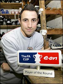 Michael Mifsud with his award