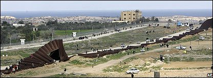 Gaza's border wall destroyed by Hamas militants