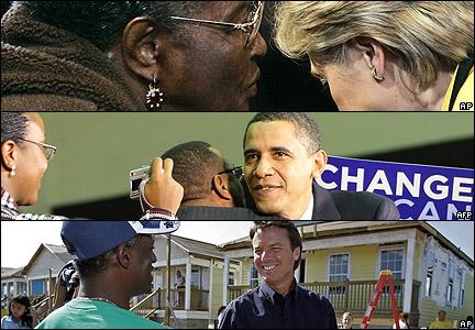 Candidatos demócratas con estadounidenses.