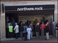 Northern Rock queue last summer