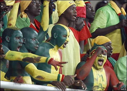Mali's fans enjoy the game in Sekondi