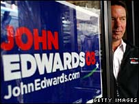 John Edwards in Bennettsville, South Carolina