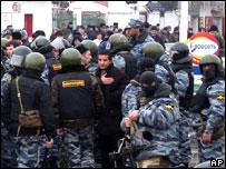 Разгон митинга в Назрани 24 ноября 2007 г.