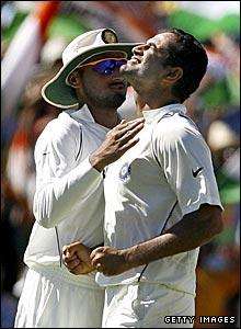 Harbhajan Singh and Irfan Pathan