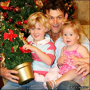 Adam Gilchrist and family