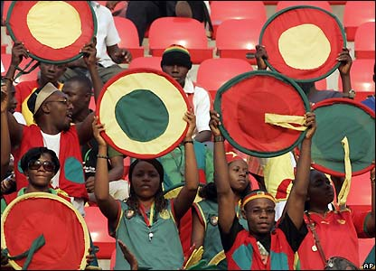 Cameroon fans look to build some atmosphere