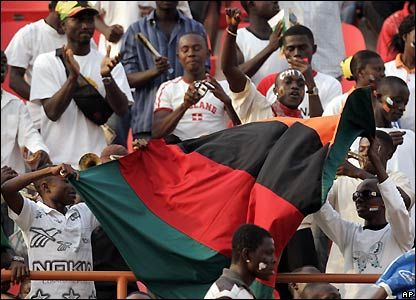 Zambia fans support their team in Kumasi
