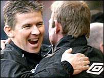 Shaun Gale celebrates